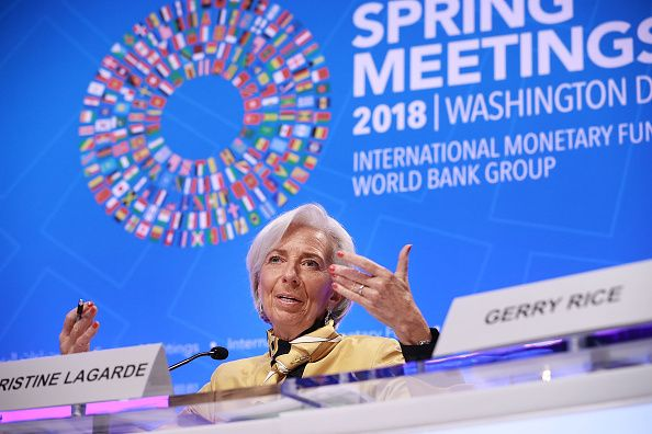 Christine Lagarde à Washington DC le 19 avril 2018