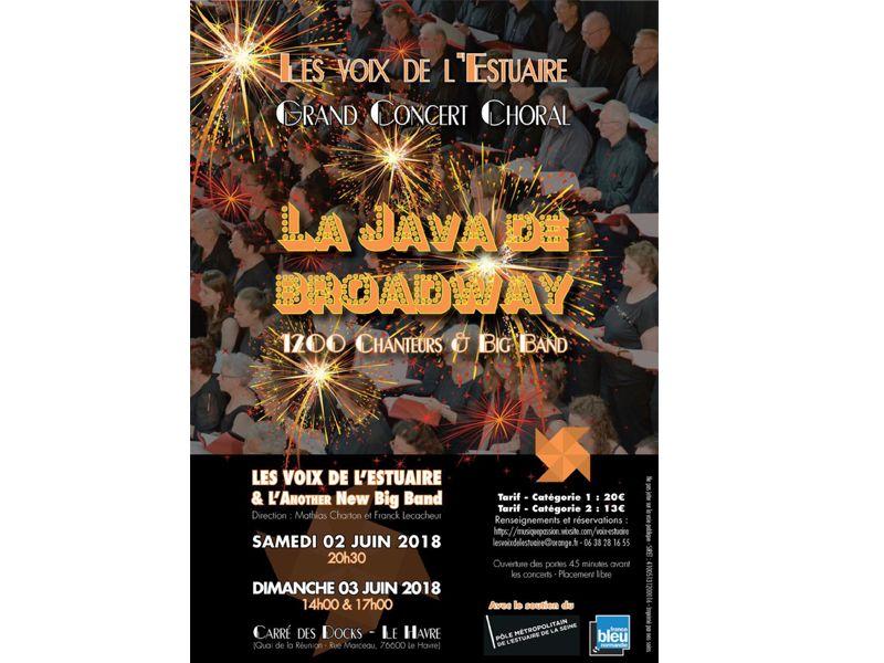 Affiche La java de Broadway au Havre