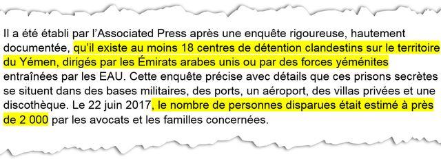 """""""Il existe au moins 18 centres de détention clandestins au Yémen"""" - Extrait de la plainte déposée contre Mohammed ben Salmane / Radio France"""