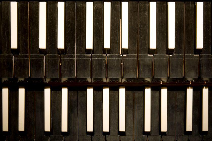 Détails d'un clavecin