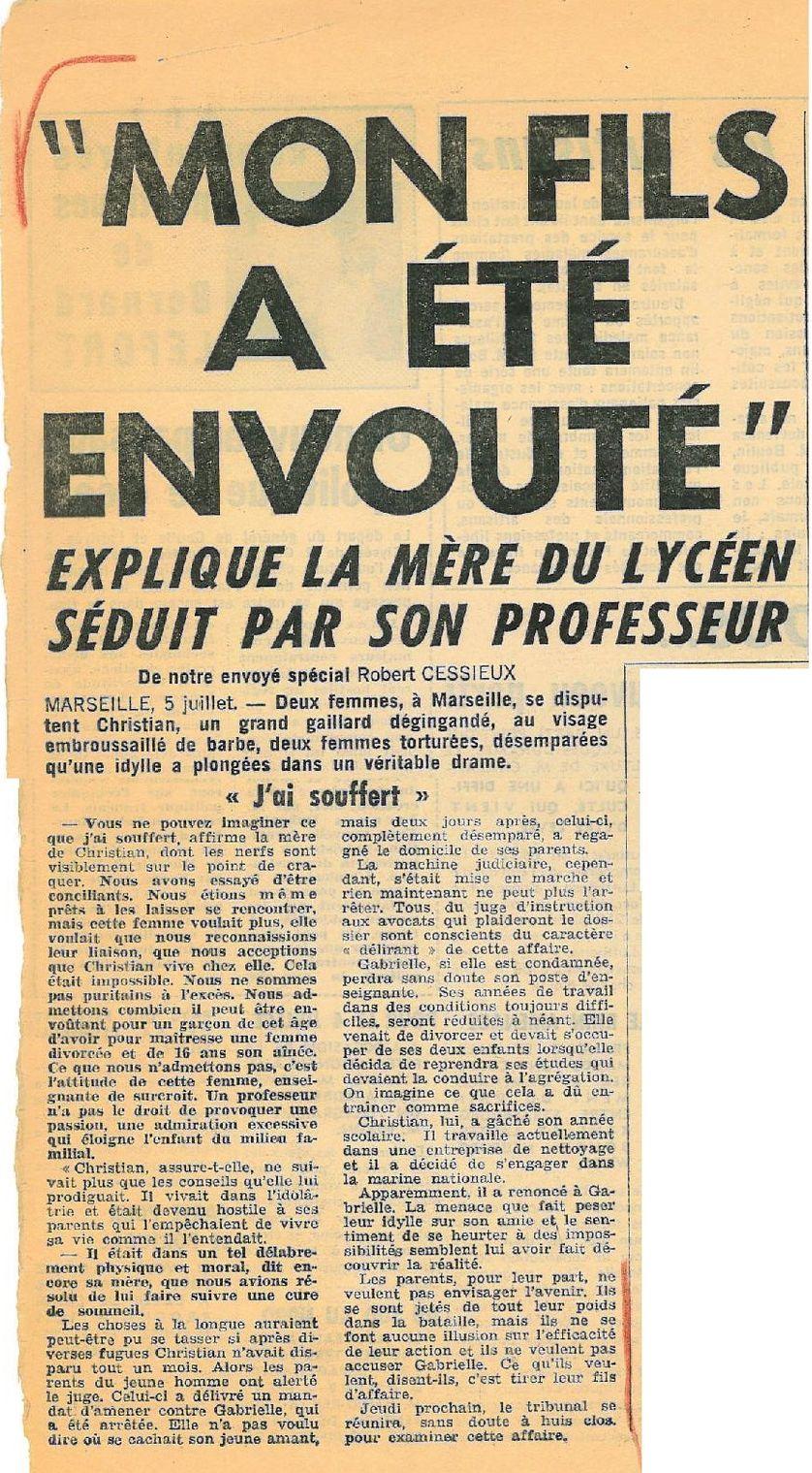 Article de Paris-Jour, 5-6 juillet 1969