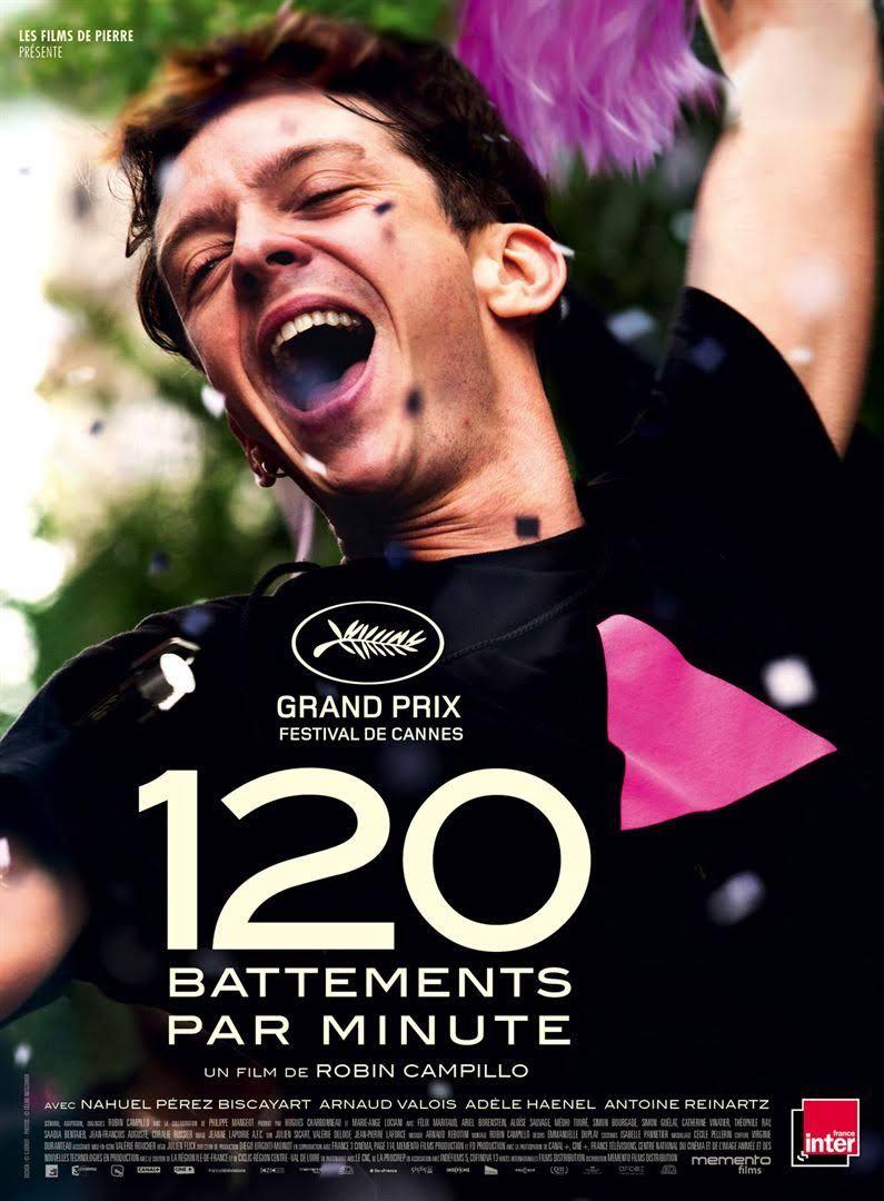 """Affiche du film de Robin Campillo """"120 battements par minute"""" 2017"""