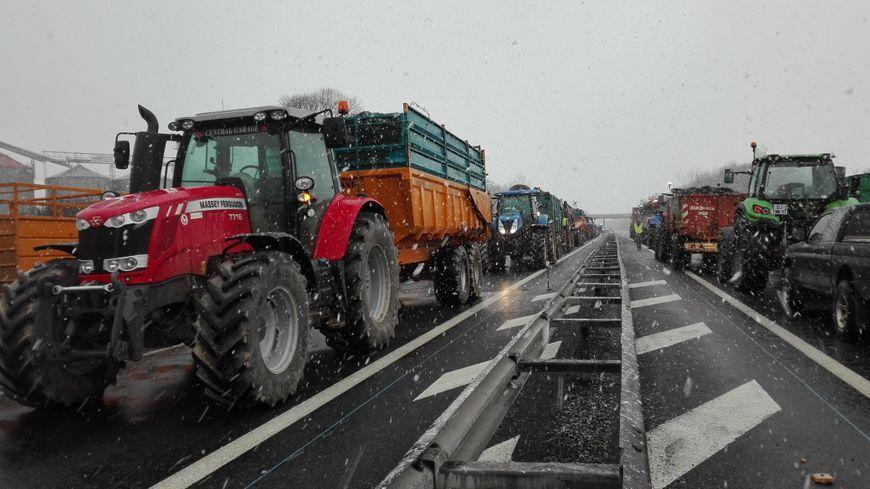 En février, les agriculteurs ont manifesté pour le maintien des ZDS.