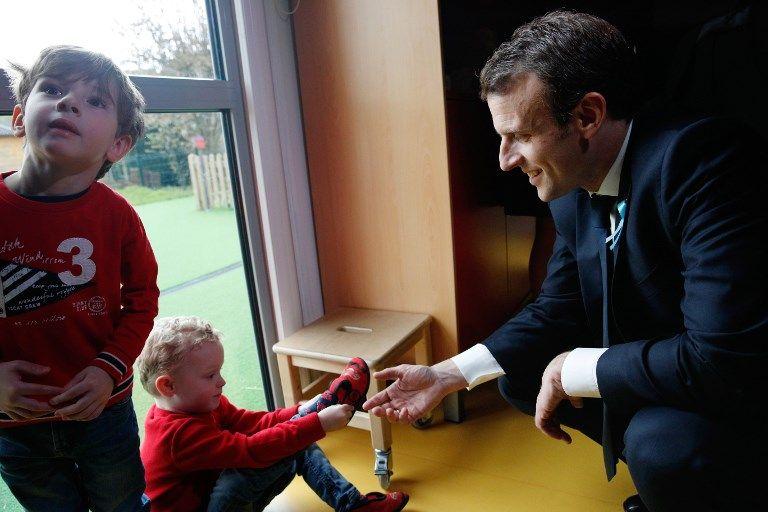 A Rouen, Emmanuel Macron a visité la crèche Graffiti's où les enfants autistes sont mélangés aux autres
