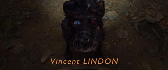 """Vincent Lindon interprète Chief dans """"L'île aux chiens"""" de Wes Anderson (capture de la bande annonce officielle française)"""