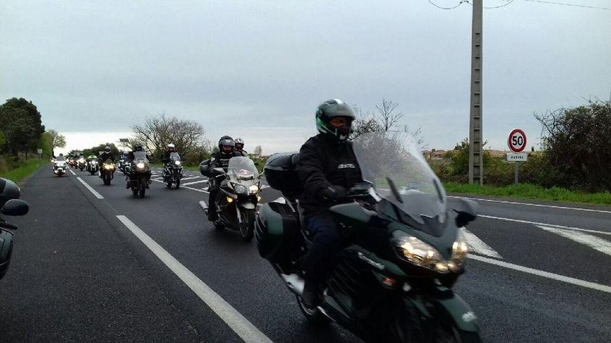 Environ 200 motards se sont mobilisés sur les routes de l'Hérault ce samedi