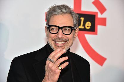 """Jeff Goldblum lors de l'avant-première de """"L'île aux chiens"""" à New York en mars 2018"""