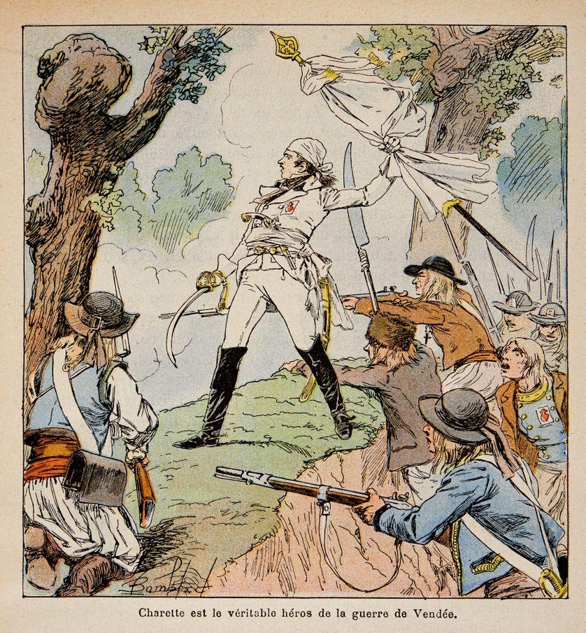 Illustration de Bombled Louis (1862-1927) : le chef Vendeen Charrette et ses partisans, Collection particuliere ©Photo Josse/Leemage  Photo Josse / Leemage