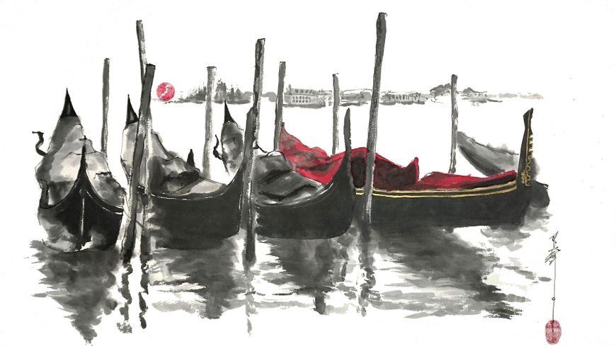 Peinture Sumi-e de Grégory Cortecero