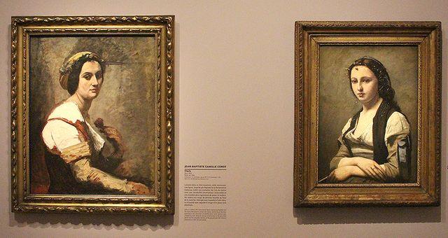 Corot - Sibylle (1870) | La femme à la perle (1868)