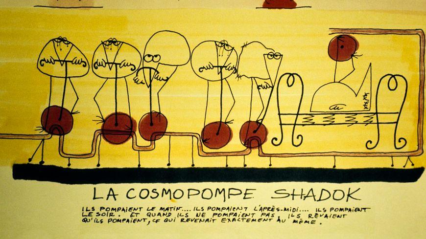 Les Shadoks sur la cosmopompe, en 1970.