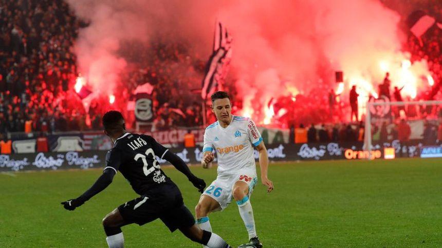 Les fumigènes allumés contre Marseille ont été sanctionnés par la Ligue de football professionnel.