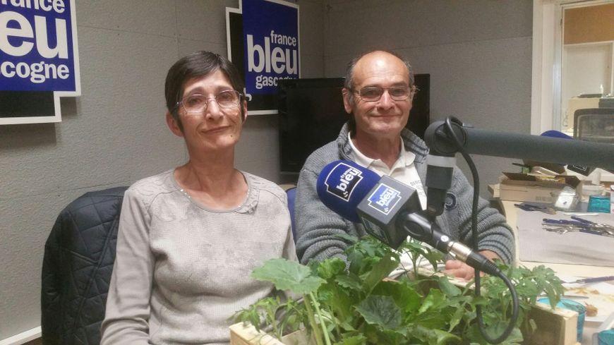 Maryse et Yves Brethous du Jardin de Fredel à Audignon