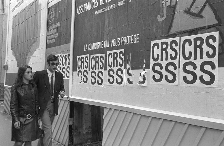 Dans les rues de Paris, le 26 mai 1968