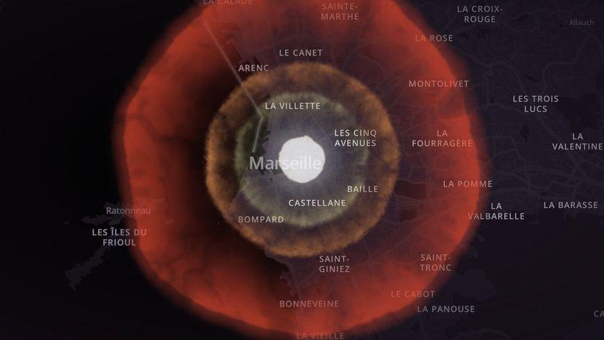 Ce qu'il se passerait si une bombe tombait sur Marseille