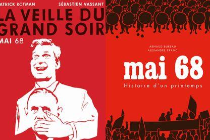 Couv La Veille du grand soir ed Seuil-Delcourt & Mai 68 Histoire d'un printemps ed Des Ronds Dans l'o