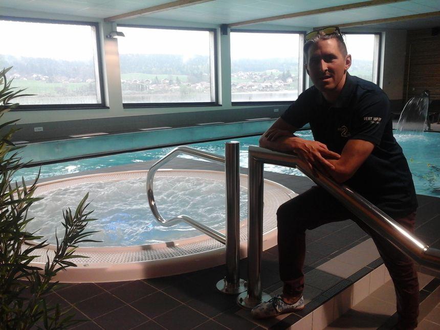 Arnaud Itié dirige Aqua2Lacs... entre salle de sport, bassin de natation et autre espace wellness... le bien-être au pays du bien-hêtre foyard!
