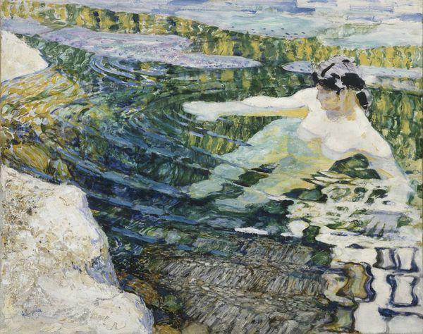 František Kupka L'Eau (La baigneuse) 1906 - 1909 huile sur toile 63 x 80 cm France, Paris Centre Pompidou, Musée national d'art moderne don d'Eugénie Kupka, 1963 en dépôt au musée des Beaux-Arts de Nancy