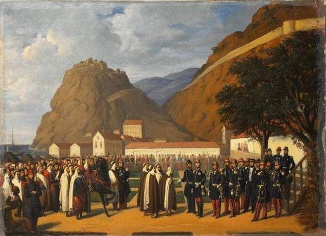La reddition d'Abd el-Kader, le 23 décembre 1847, par Régis Augustin (1813-1880)