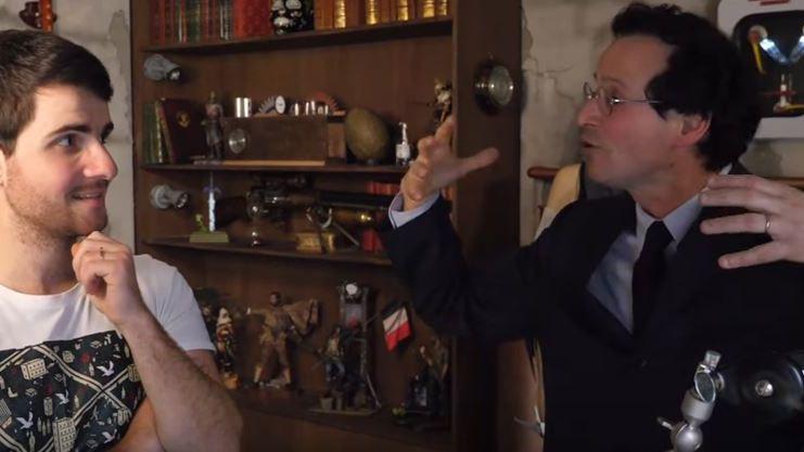 Thierry Piel (à droite) et le youtubeur Amixem