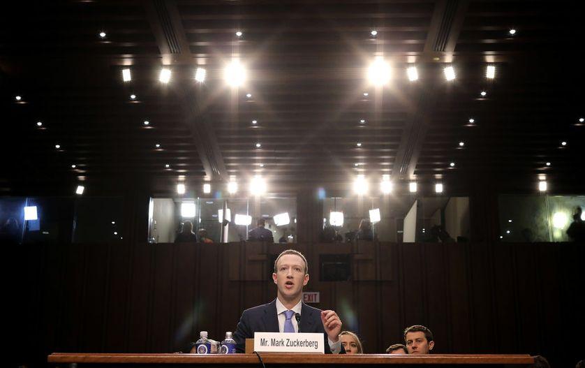 Mark Zuckerberg devant le Sénat américain le 10 avril 2018