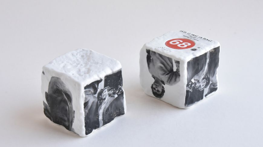 Le porcelainier Bernardaud sort ce jeudi une série de pavés en porcelaine pour célébrer l'anniversaire de mai 68