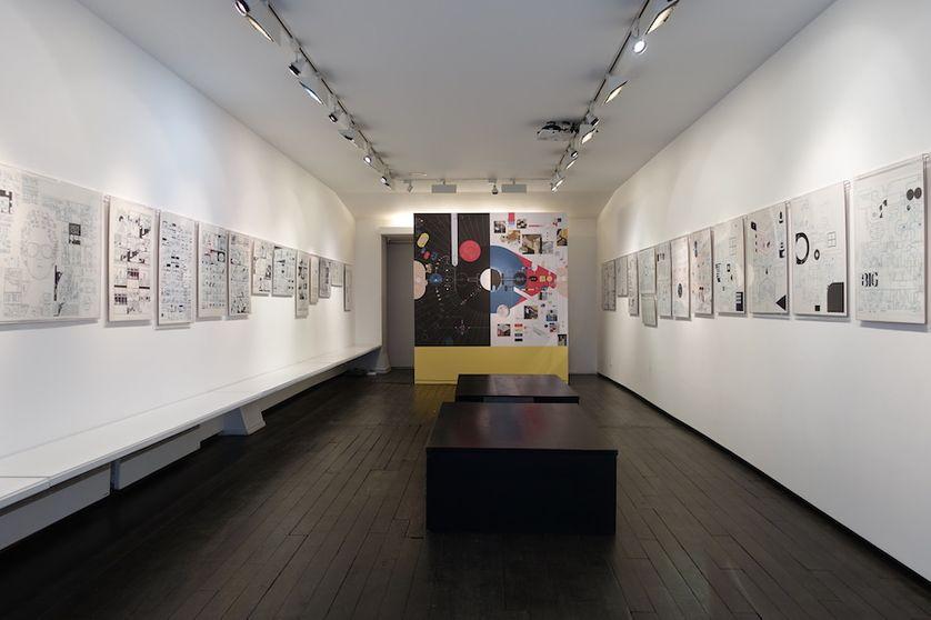 Expo Chris Ware 2018 à la Galerie Martel