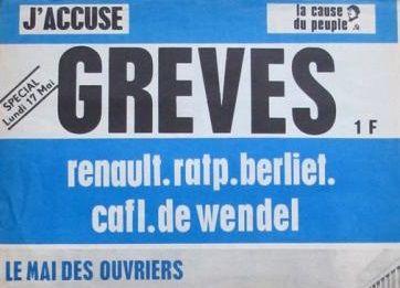 Le journal La Cause du Peuple - J'Accuse édité par la Gauche prolétarienne spécial - 17 mai 1971