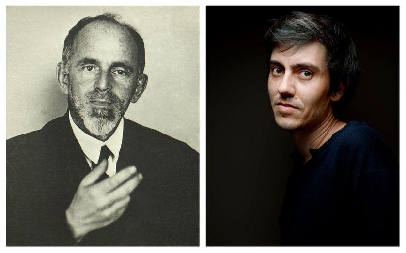 De gauche à droite : Ossip Mandelstam et Sylvain Prudhomme