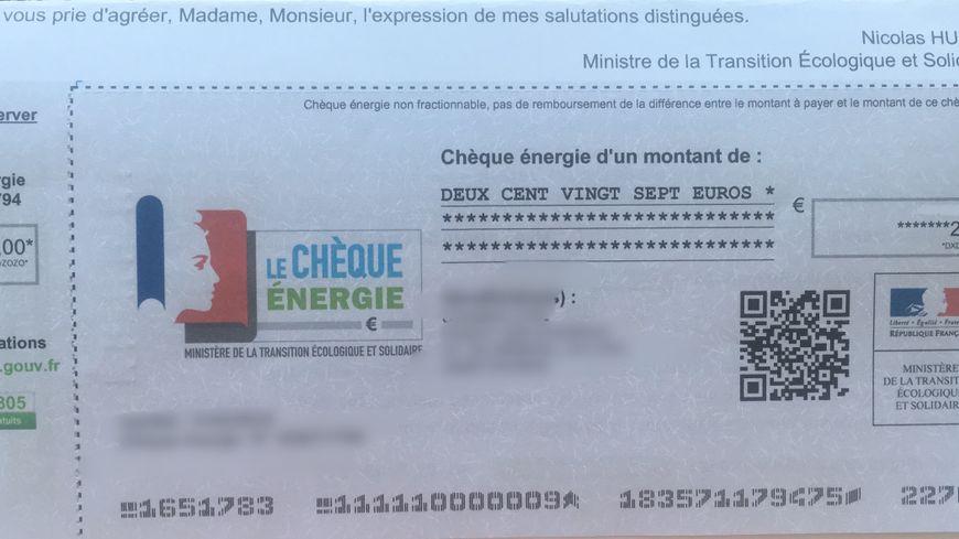 Voilà le genre de chèque que 28.000 foyers périgourdins vont obtenir.