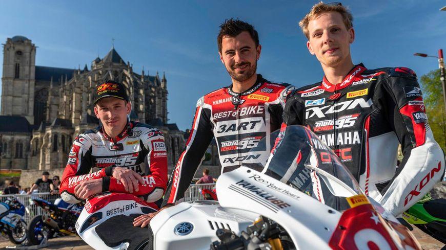 Les trois membres de l'équipe 3ART : Mathieu Lussiana (le Creusois), Alex Plancassagne et Pepijn Bisterbosch