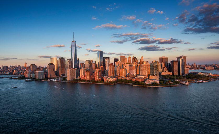 USA, New York State, New York City, vue aérienne de la ville