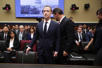 Mark Zuckerberg lors de son audition devant le Sénat américain