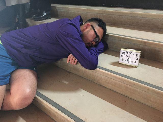 L'une des performances de Do Disturb au Palais de Tokyo