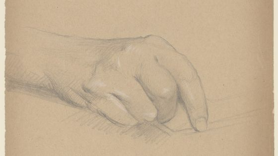 Jean Gounod: Etude de la main droite de Charles Gounod