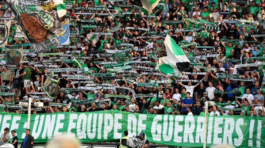 Les supporters des Verts à Paris en août 2017.