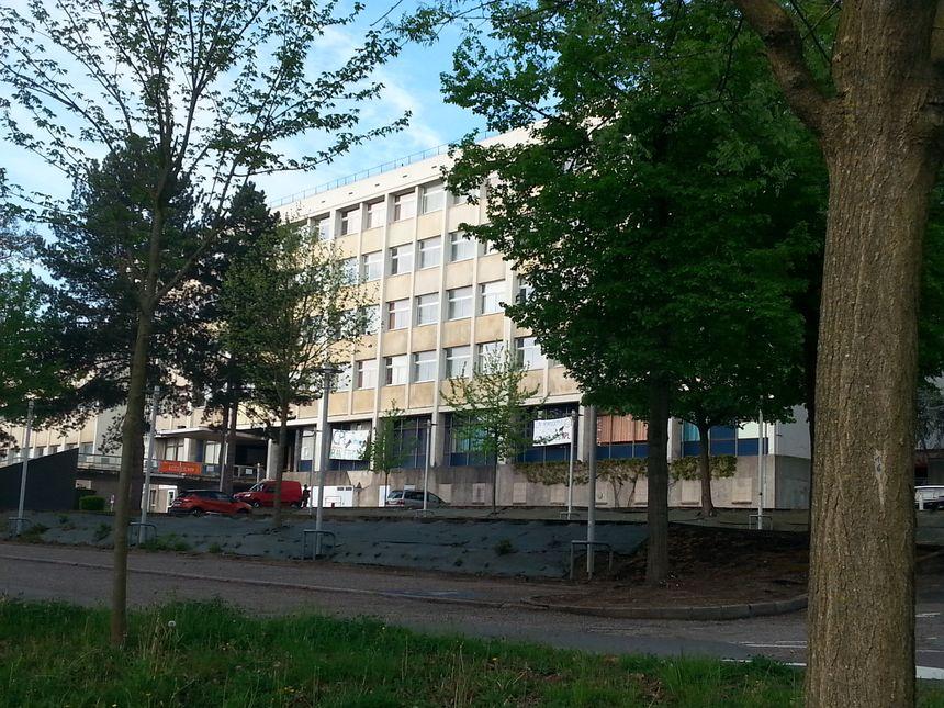 Le campus Lettres et Sciences Humaines, vide, ce mercredi matin
