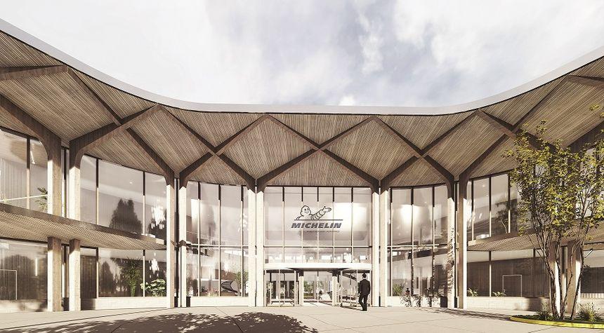 Le futur bâtiment d'accueil du siège social de Michelin place des Carmes