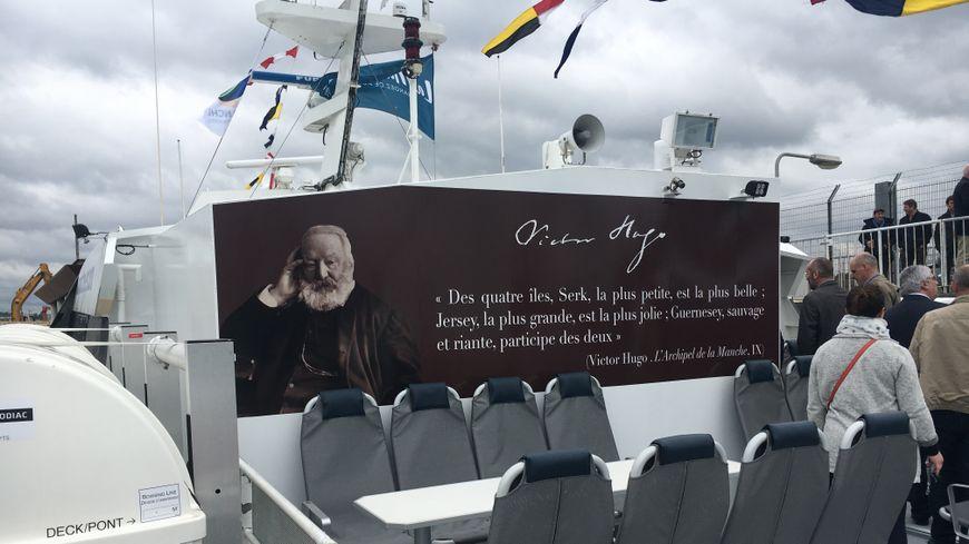 """Pendant l'hiver, le """"Victor Hugo"""", le ferry qui assure les liaisons depuis les ports de Diélette et Barneville-Carteret, a fait peau neuve"""