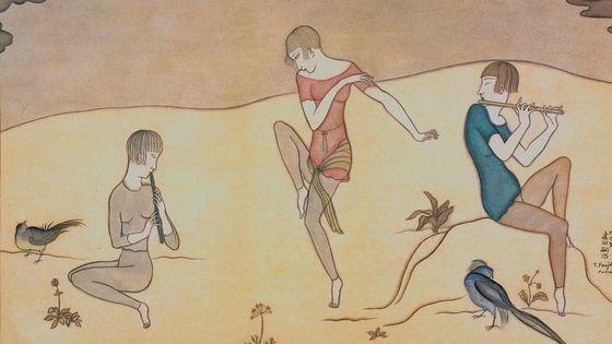 Léonard Tsuguharu Foujita,  La Danse , 1917, aquarelle sur papier, collection particulière