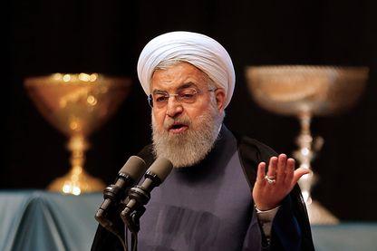 Le président iranien Hassan Rohani lors d'une conférence à Tabriz la semaine dernière