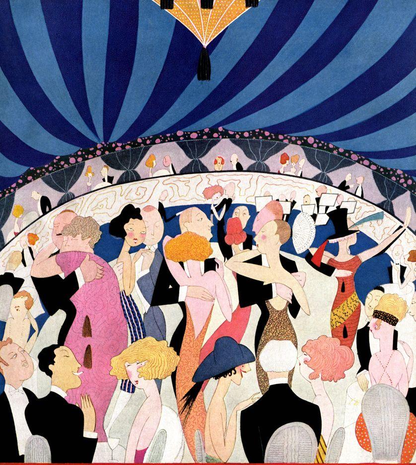 Couverture de Vanity Fair de Mars 1921 - Soirée dansante