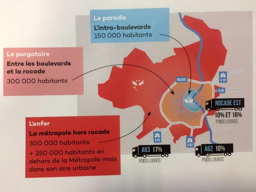 Le paradis, le purgatoire et l'enfer pour décrire la circulation à Bordeaux (Extrait d'un document de travail de Vincent Feltesse)