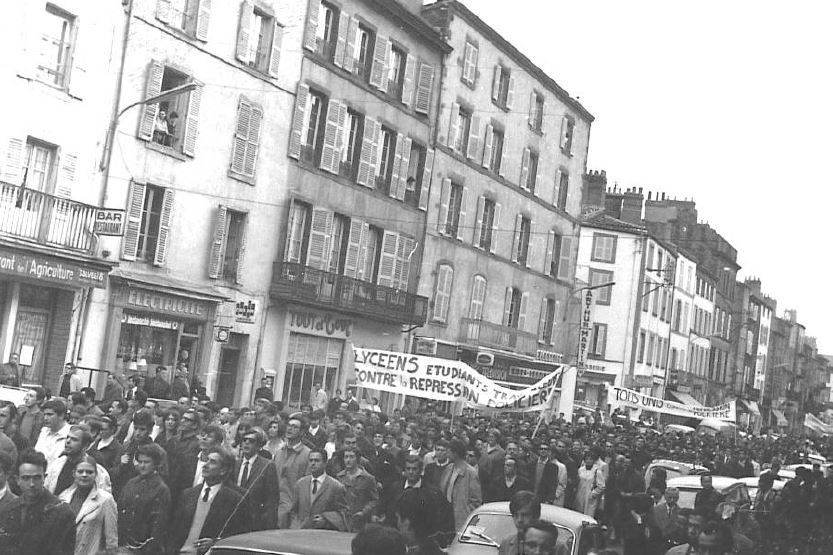 En mai 68 à Clermont, il y a eu jusqu'à 20.000 personnes dans les manifestations