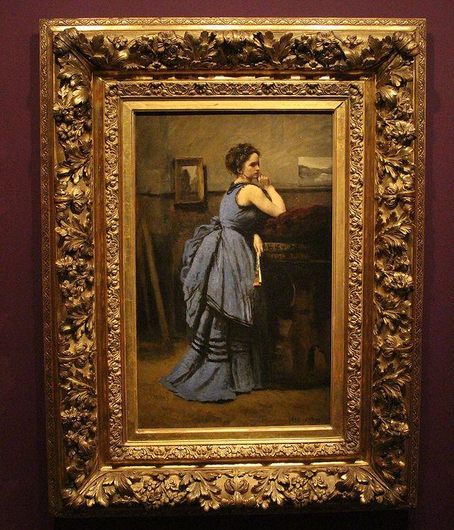 Corot - La dame en bleue (1874) - Le modèle est à nouveau Emma Dobigny