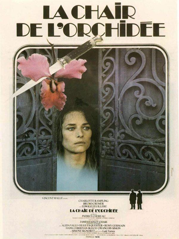"""Affiche de """"La Chair de l'orchidée"""" de 1975"""