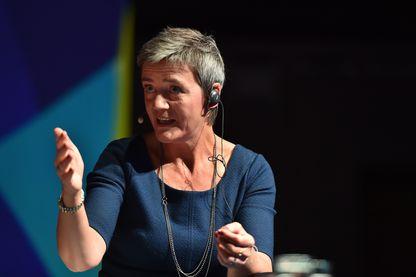 """La Danoise Margrethe Vestager, commissaire européenne a la concurrence, lors des Journées de Bruxelles organisées au Bozar sur le thème """"Europe Yes We Can"""". Elle est célébre pour son action visant à faire payer des impôts en Europe aux géants du Net"""