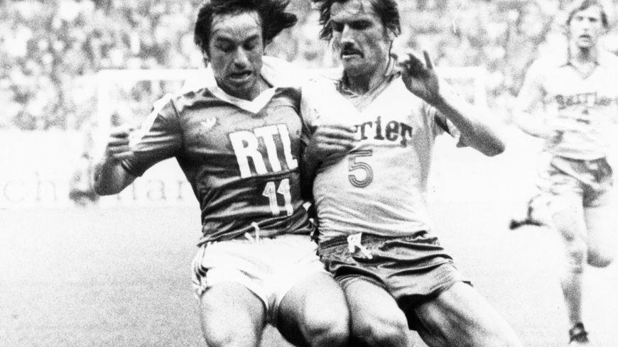 Henri Michel (à droite) lors de la finale de la Coupe de France remportée par le FC Nantes, en 1979