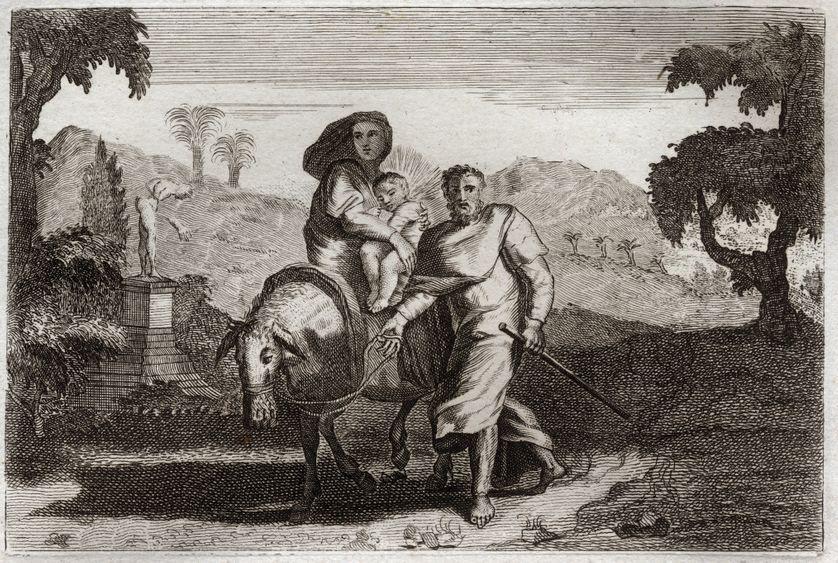 La fuite en Egypte, Bible de Royaumont