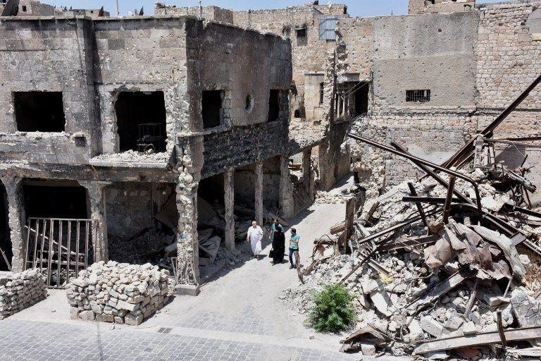 Photo prise le 12 juillet 2017 à Alep en Syrie, ville assiégée en 2016.